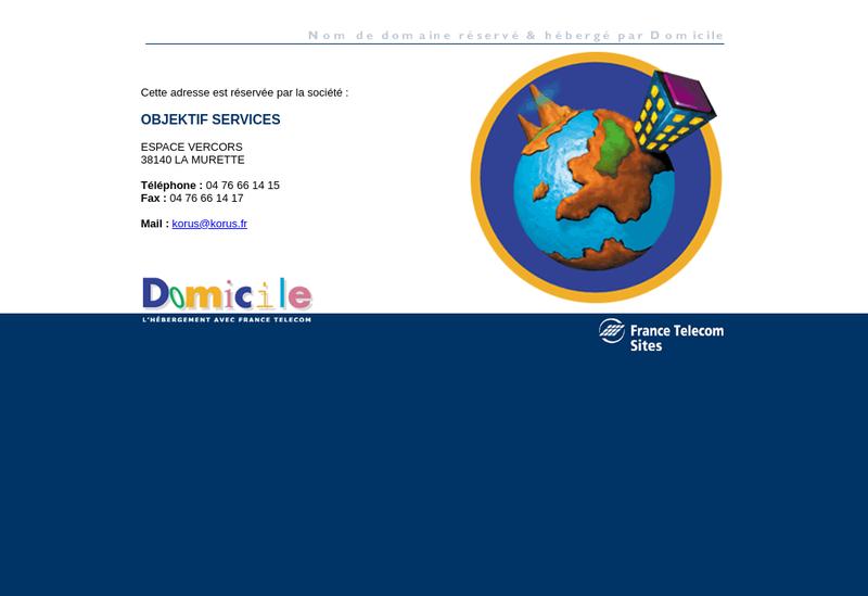 Capture d'écran du site de Objektif Services