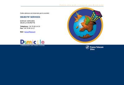 Site internet de Objektif Services