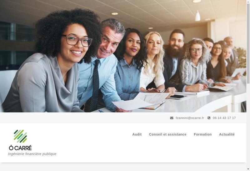 Capture d'écran du site de O Carre