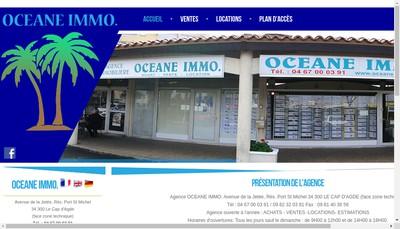 Site internet de Oceane Immo