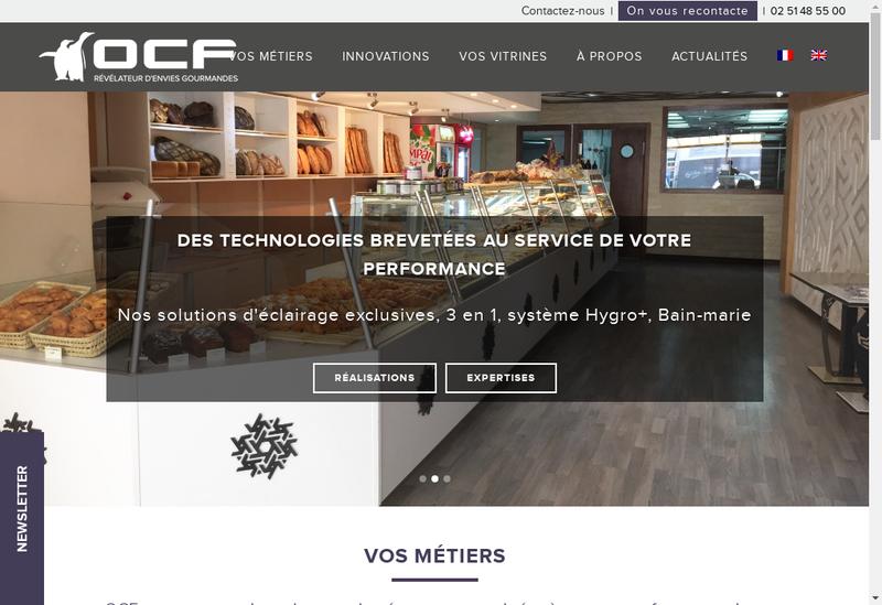 Capture d'écran du site de Ocf Ouest Construct Frigorifiq