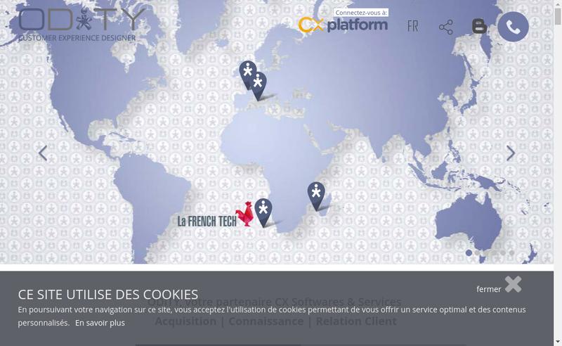 Capture d'écran du site de Odity Odity France Actel