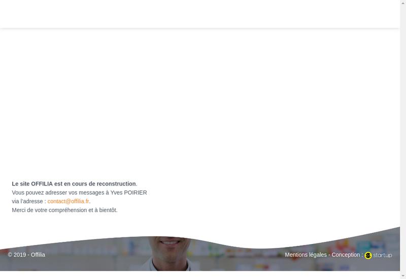 Capture d'écran du site de Offilia