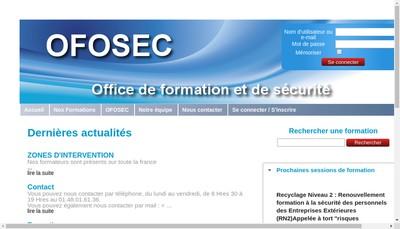 Site internet de Ofosec