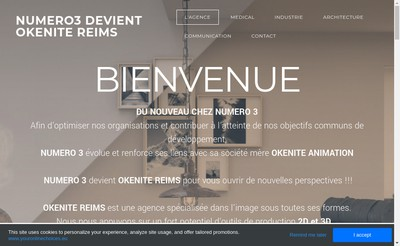 Site internet de Okenite Reims