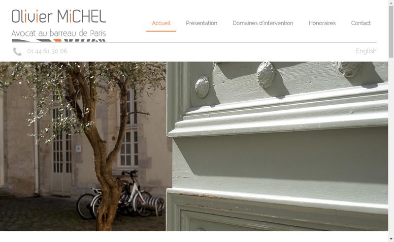 Capture d'écran du site de Olivier Michel