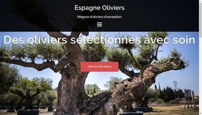 Site internet de Espagne Oliviers