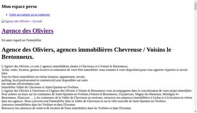 Site internet de Agence des Oliviers