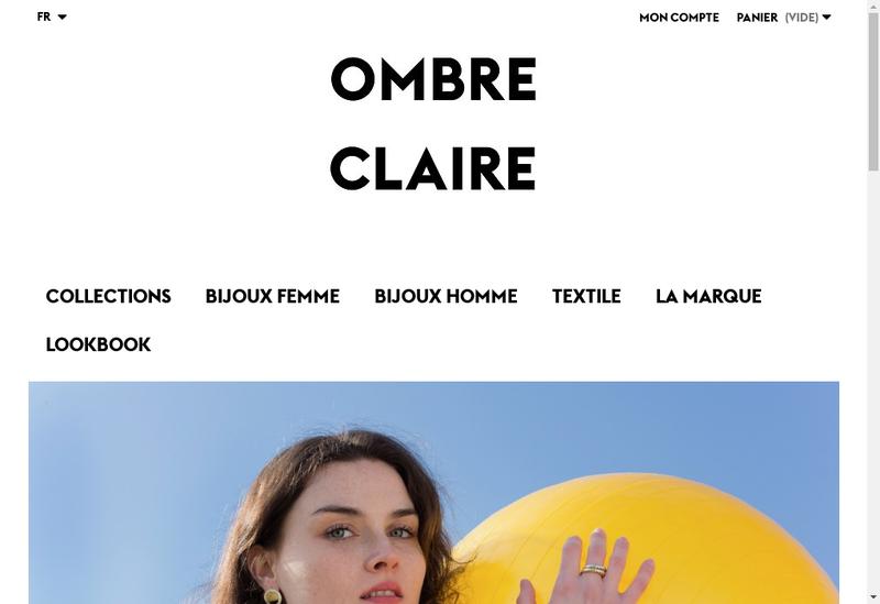 Capture d'écran du site de Ombre Claire