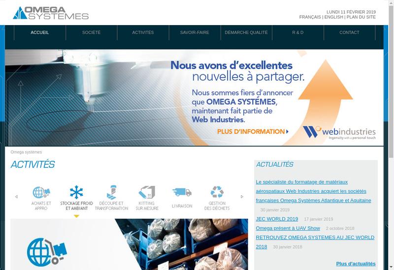 Capture d'écran du site de Omega Systemes Atlantique