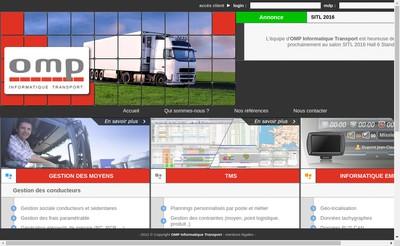 Site internet de Omp Informatique Transport