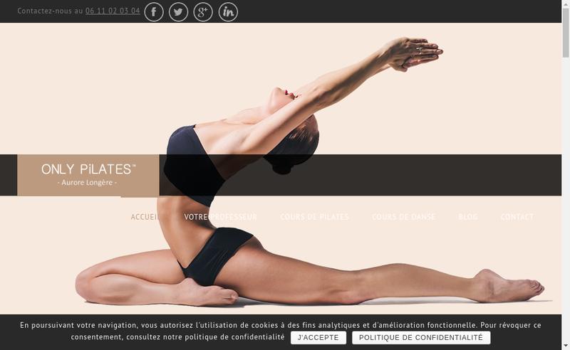 Capture d'écran du site de Aurore Longere