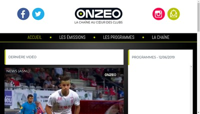Site internet de Onzeo