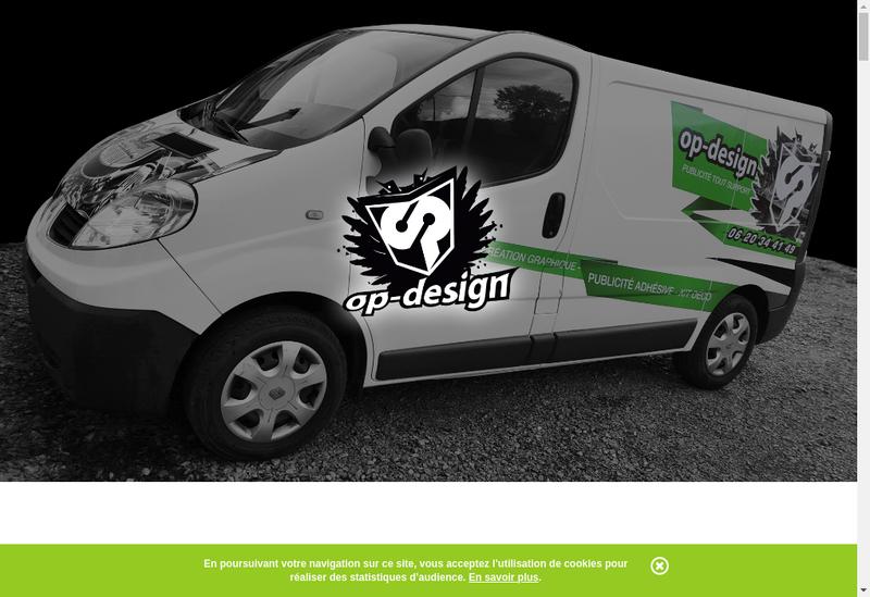 Capture d'écran du site de Op-Design