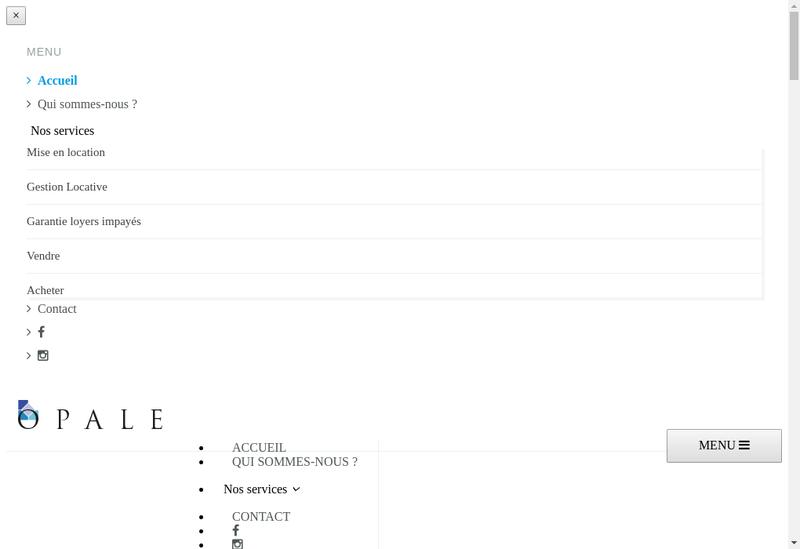 Capture d'écran du site de Opale Immobilier