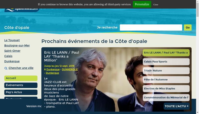Capture d'écran du site de Bring Frigoscandia