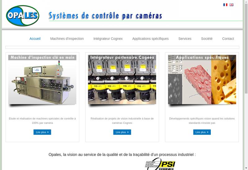Capture d'écran du site de Opales