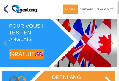Site internet de Openlang Formations