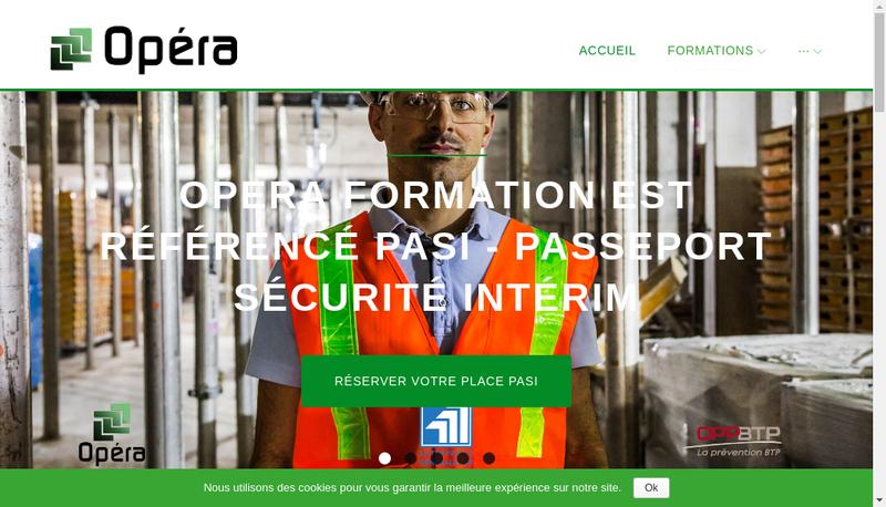 Capture d'écran du site de Opera Formation
