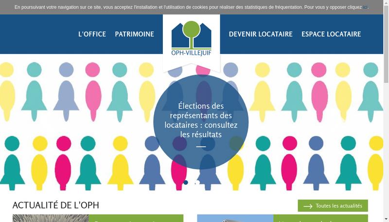Capture d'écran du site de Office Public de l'Habitat Villejuif