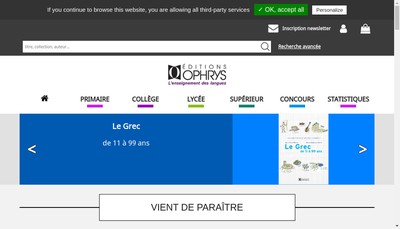 Site internet de Technip & Ophrys Editions