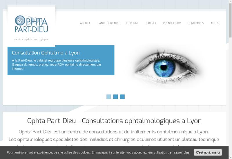Capture d'écran du site de Ophta Part Dieu