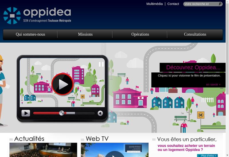 Capture d'écran du site de Oppidea