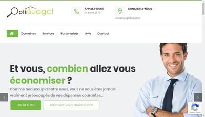 Site internet de Optibudget Conseils
