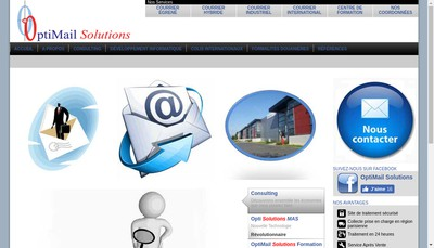 Site internet de Optimail Solutions