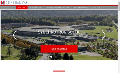 Site internet de Optimask