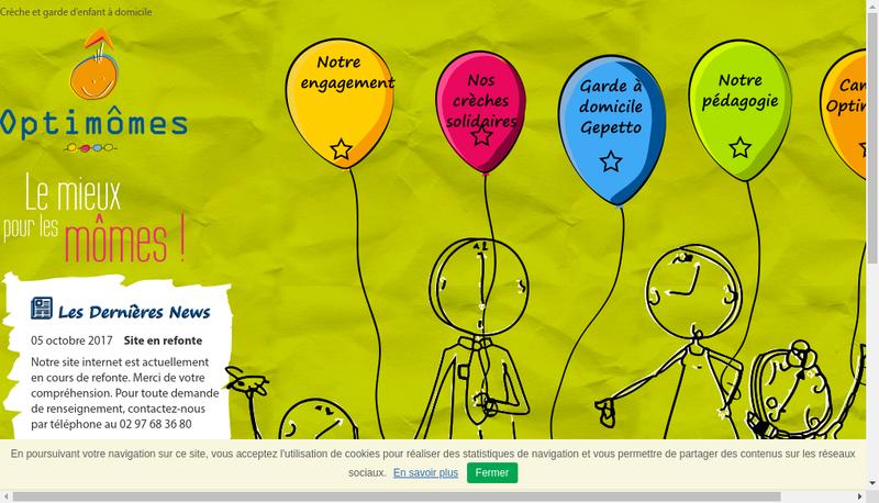 Capture d'écran du site de Optimomes