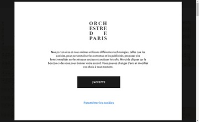 Site internet de Orchestre de Paris