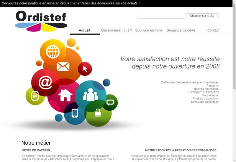 Capture d'écran du site de Ordistef Informatique