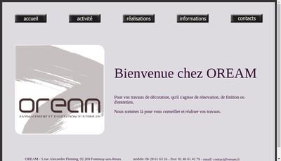 Site internet de Oream