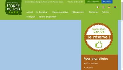 Site internet de L'Oree du Bois