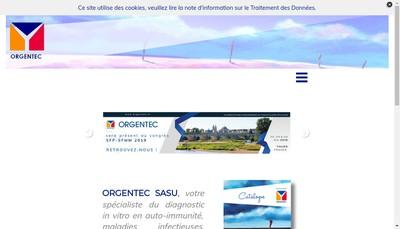 Site internet de Orgentec
