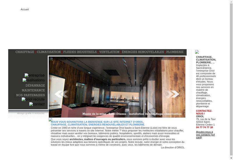 Capture d'écran du site de Oriol-Chauffage Sanitaire Etrat-Cse