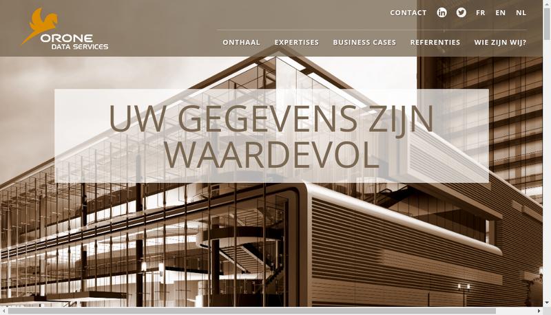 Capture d'écran du site de ORONE DATA SERVICES