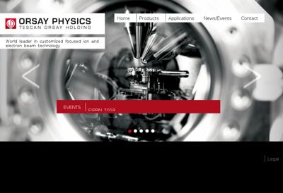 Capture d'écran du site de Orsay Physics