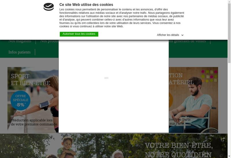 Capture d'écran du site de Orthopedie Delinotte