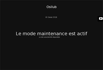 Capture d'écran du site de Osilub
