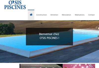 Capture d'écran du site de O Sis Piscines