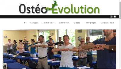 Capture d'écran du site de Osteo Evolution