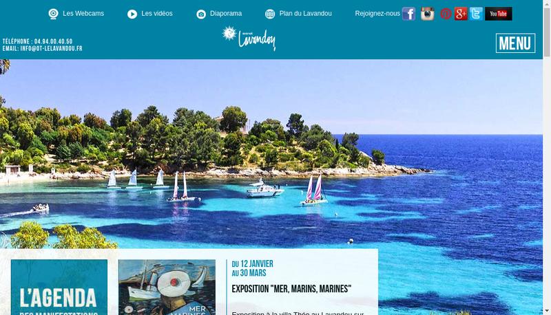 Capture d'écran du site de SARL Lavandou Plongee