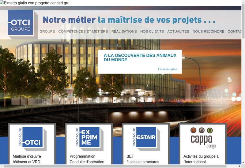 Capture d'écran du site de Organisation et Technique de Constructions Immobilieres