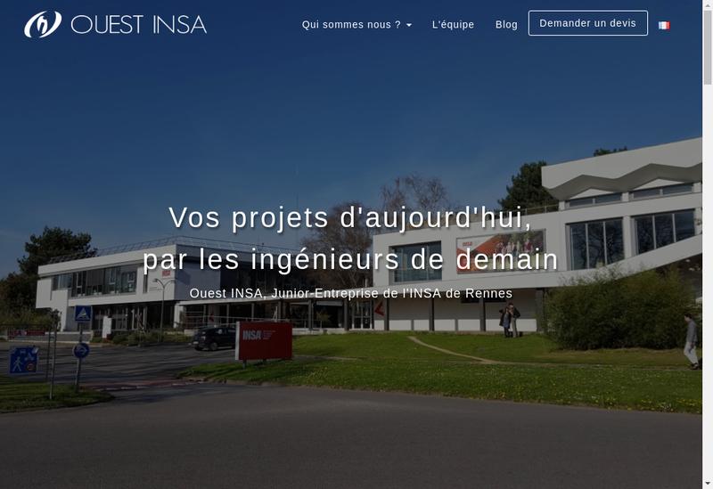 Capture d'écran du site de Ouest INSA Junior-Entreprise