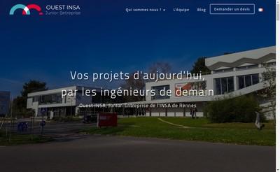 Site internet de Ouest INSA Junior-Entreprise