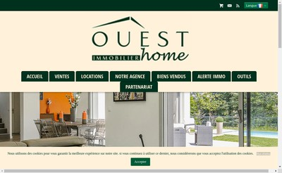 Site internet de Ouest Home