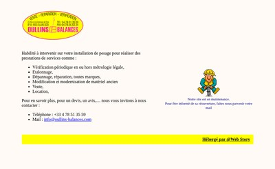 Site internet de Oullins Balances