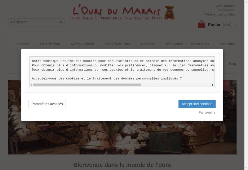 Capture d'écran du site de Ours du Marais